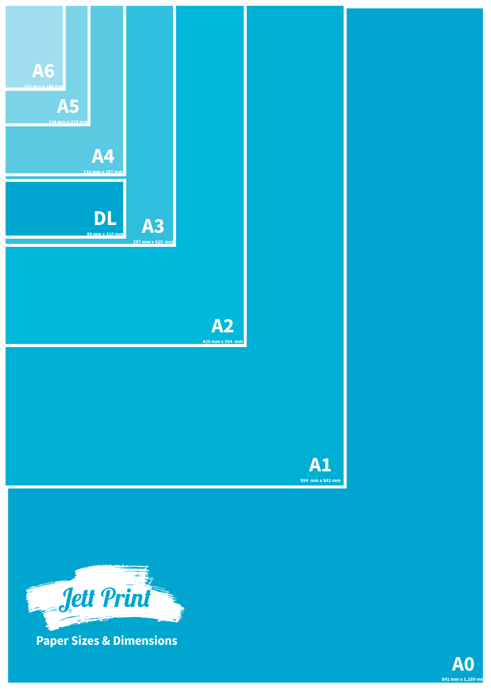 What are the different paper sizes dimensions for Printer paper size