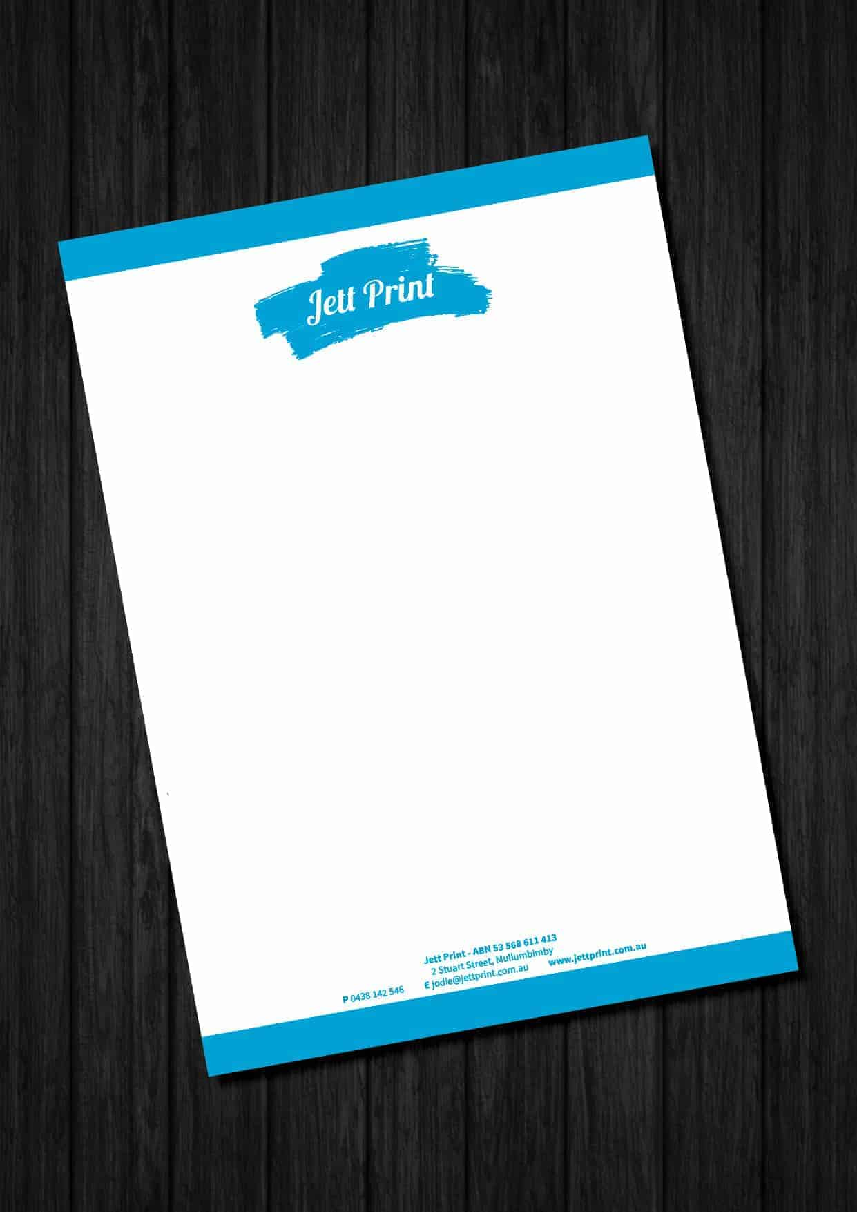 letterheads printing gold coast brisbane tweed heads