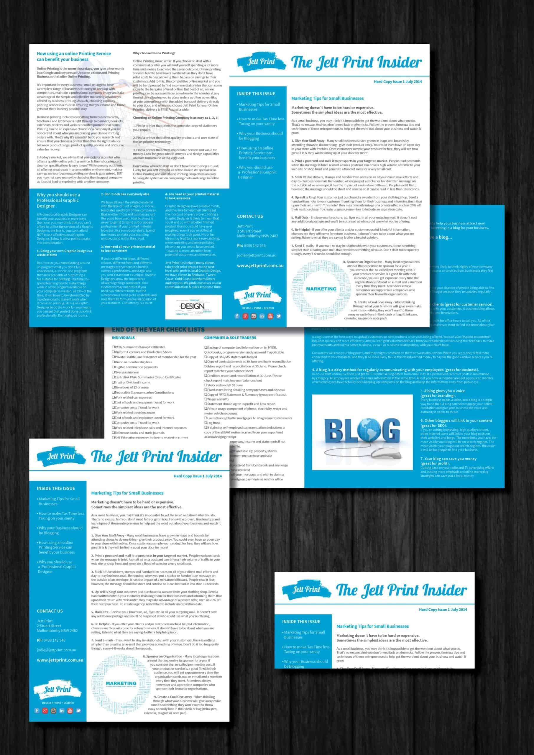 newsletters-printing-gold-coast-brisbane-tweed-heads