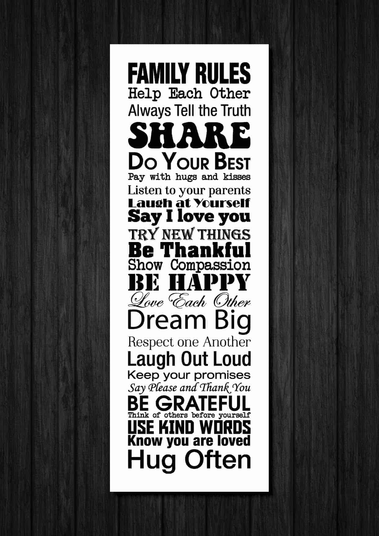 Family house rules template family rules jigsaw puzzle for House rules chart template