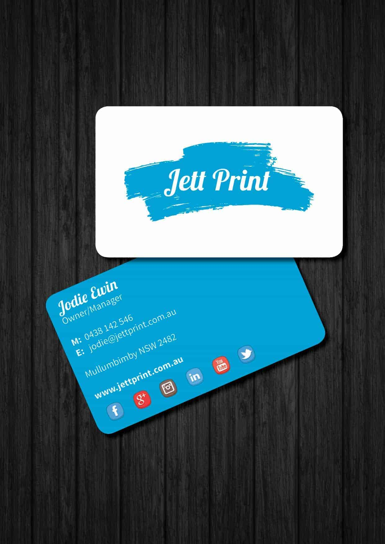 Plastic business cards printing australia gold coast brisbane tweed jett print round cornered business cards reheart Choice Image