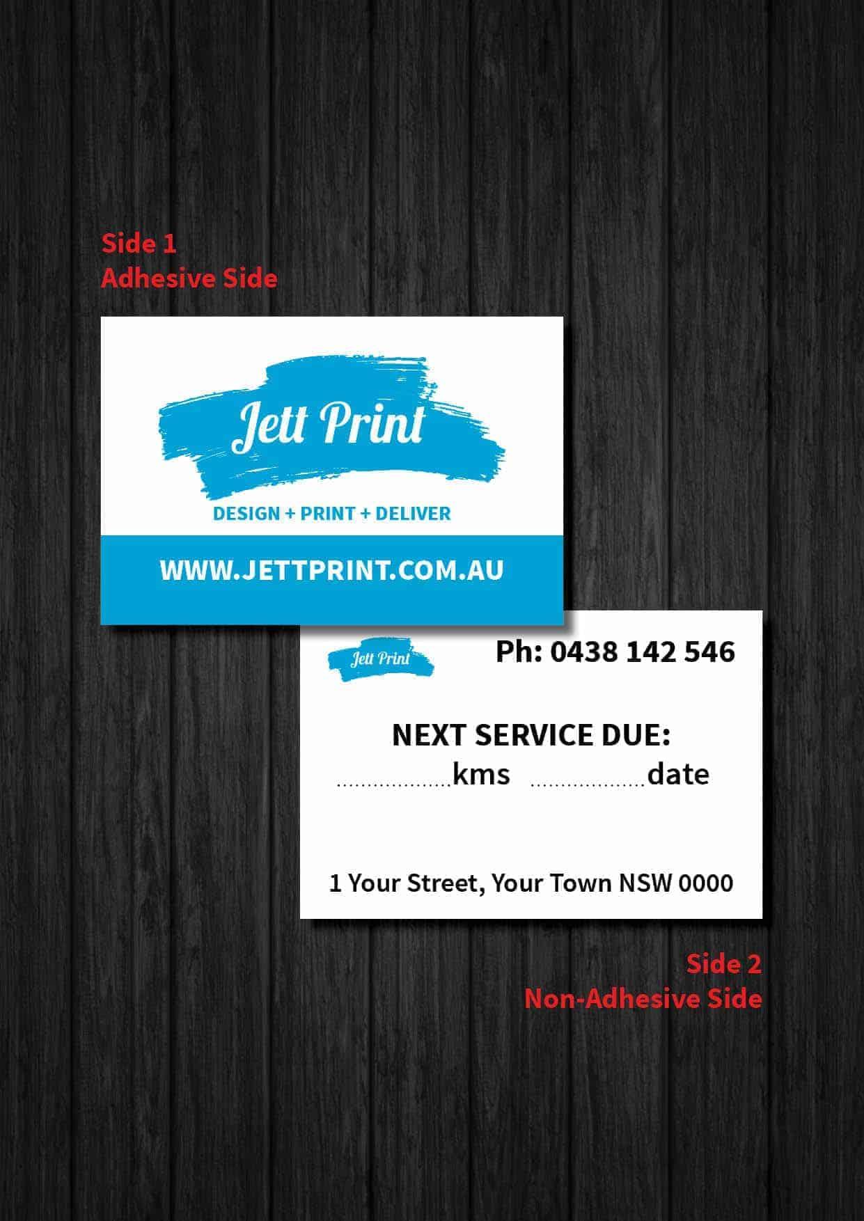 Car Service Stickers Printed Delivered Australia Wide