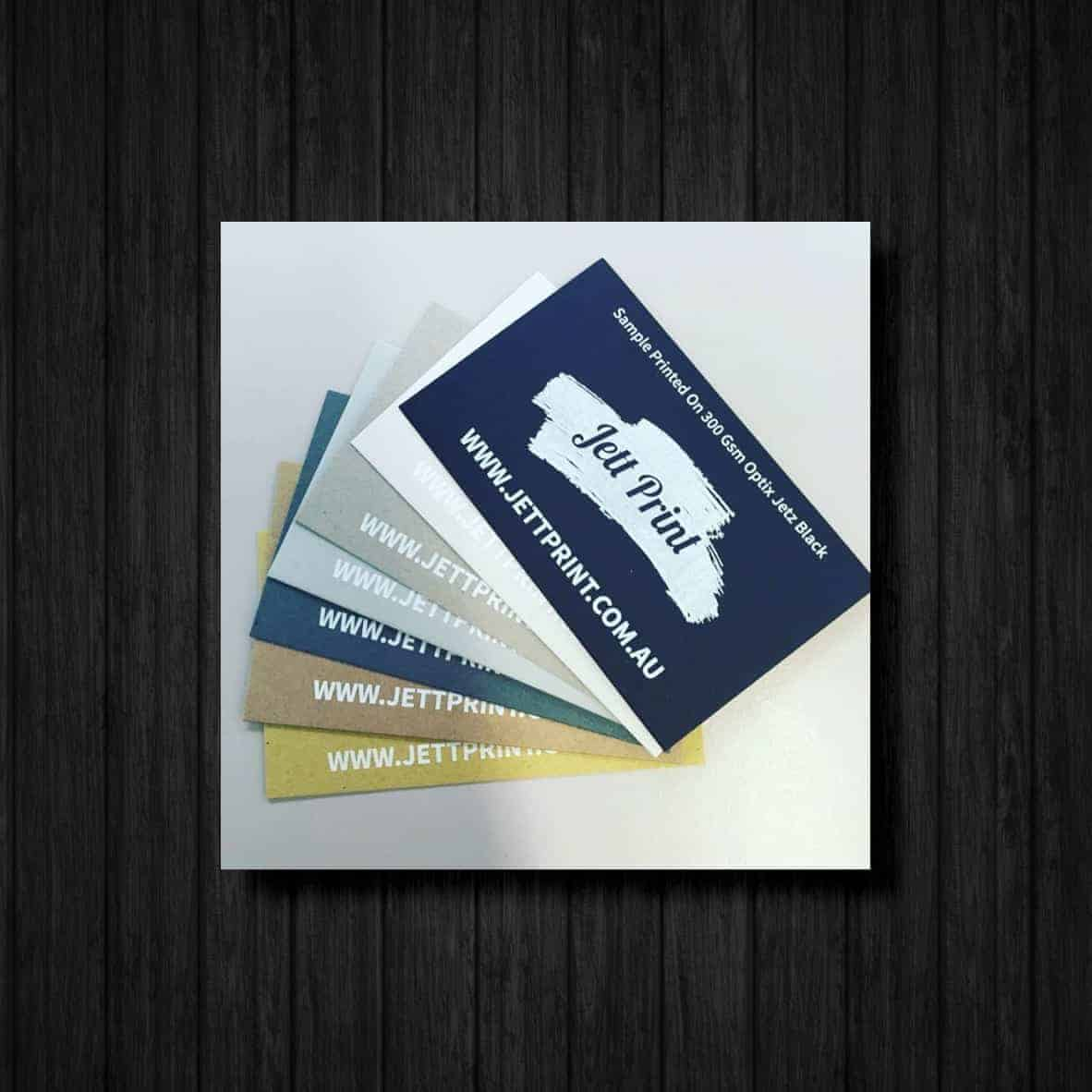 Jett Print | White Ink Printing | Business Cards | Wedding Invites