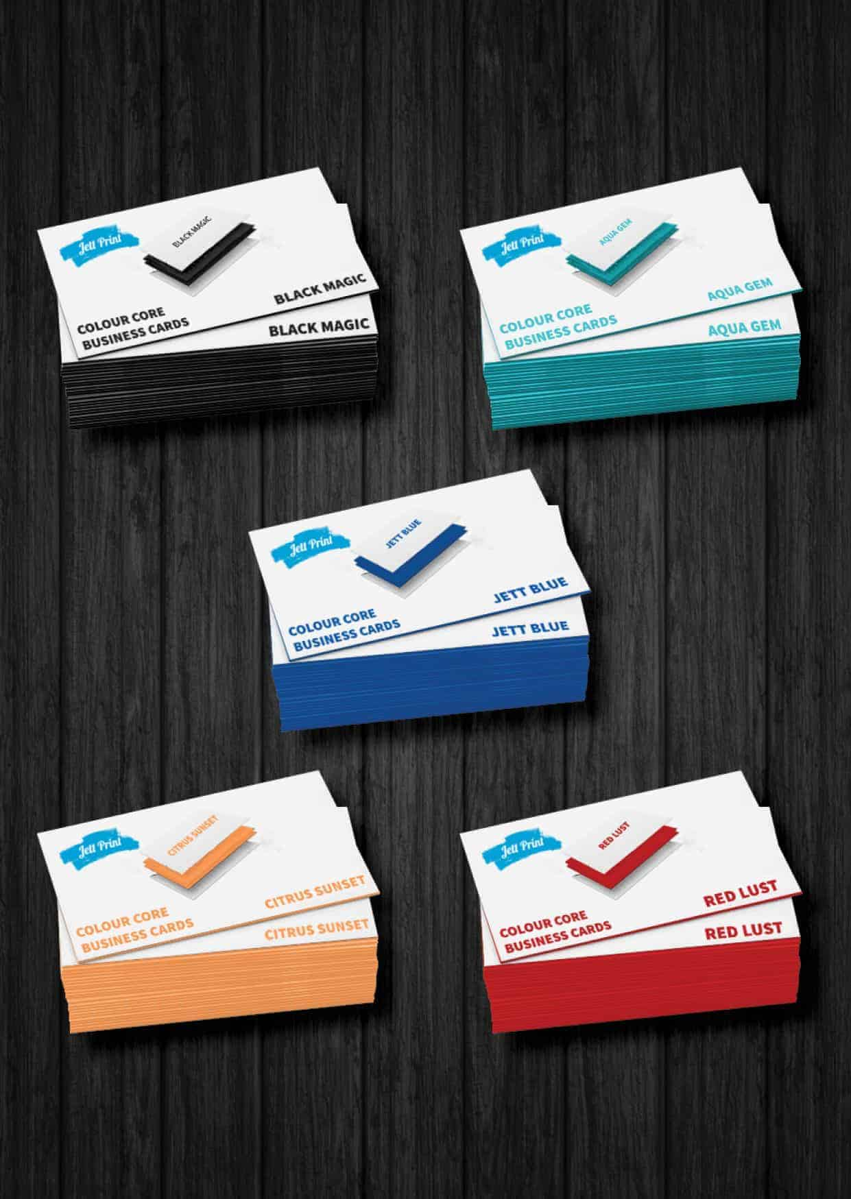Colour core business cards be bold be noticed jett print encore colour core business cards reheart Image collections