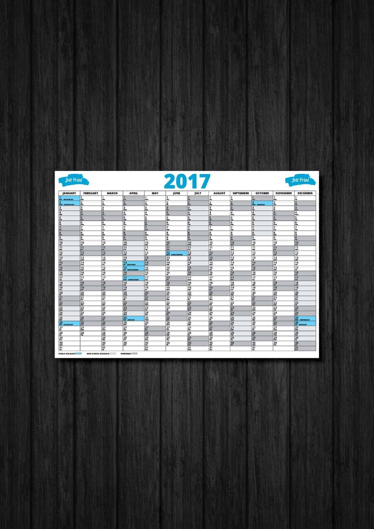 Custom printed wall planners are making a comeback jett for Custom photo planner